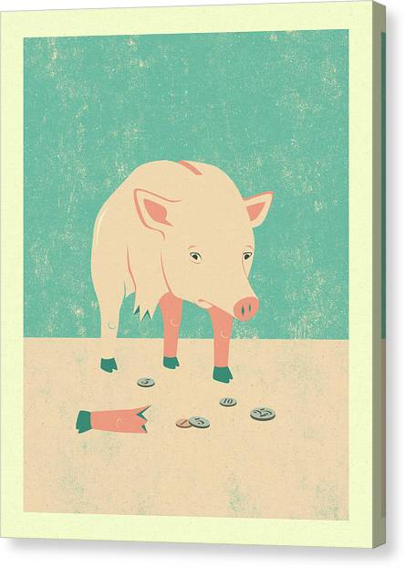 Pigs Canvas Print - Broken by Jazzberry Blue