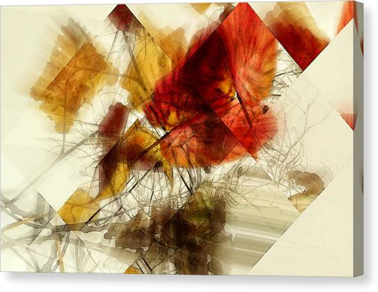 Broken Leaves Canvas Print by Martine Affre Eisenlohr