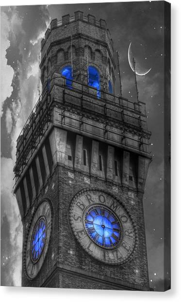 Bromo Seltzer Tower Baltimore - Blue  Canvas Print