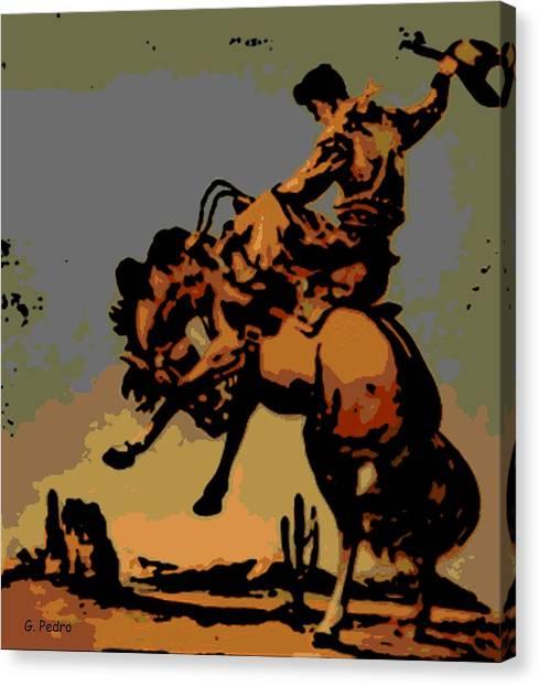 Bronc Rider Canvas Print