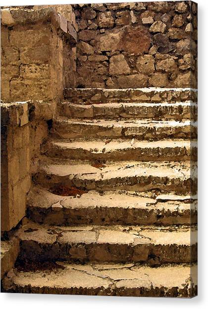 Bronze Age Stairs Canvas Print