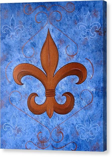 Bronze Fleur De Lis Canvas Print