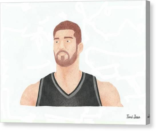 Brooklyn Nets Canvas Print - Brook Lopez by Toni Jaso
