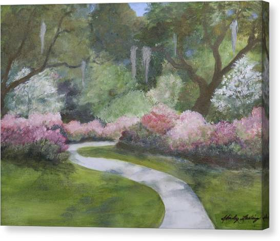 Brookgreen Gardens In Spring Canvas Print by Shirley Lawing
