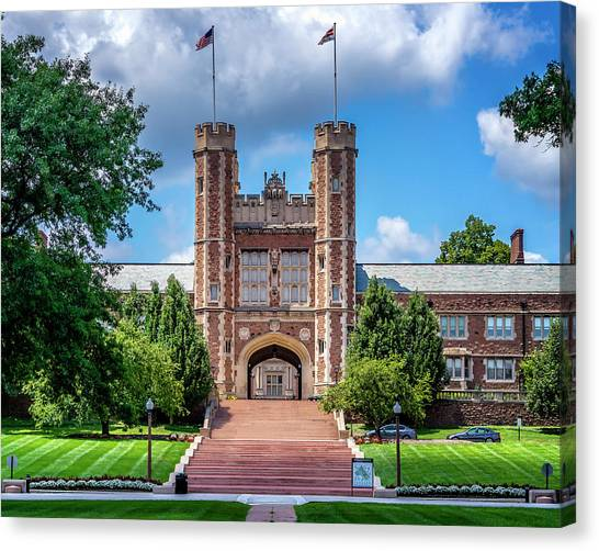 Saint Louis University Canvas Print - Brookings Hall - Washington University St. Louis Mo_dsc0375_16 by Greg Kluempers
