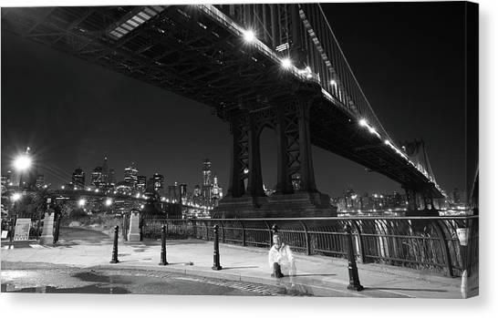 Brooklyn And Manhattan Bridges Canvas Print