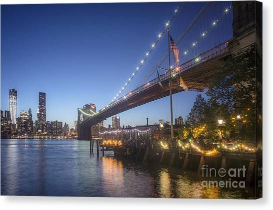 Canvas Print featuring the photograph Brooklyn Brdige New York  by Juergen Held