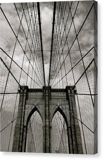 Brooklyn Bridge Canvas Print - Brooklyn Bridge by Adrian Hopkins