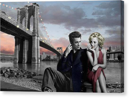James Dean Canvas Print - Brooklyn Bridge by Chris Consani