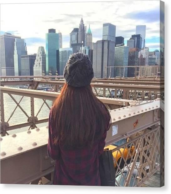 Flannel Canvas Print - Brooklyn Bridge💋 #follow4follow by Melanie Sauve