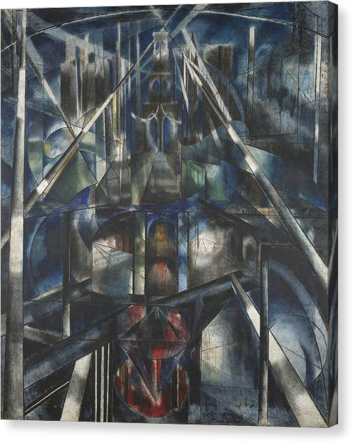Futurism Canvas Print - Brooklyn Bridge by Joseph Stella