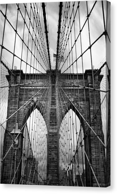Brooklyn Bridge Mood Canvas Print