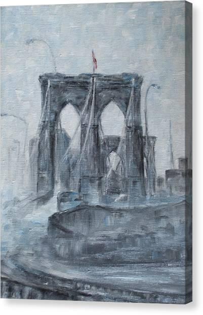 Brooklyn Bridge Canvas Print by Natia Tsiklauri
