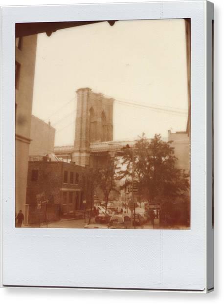 Brooklyn Bridge With Ip Px100 Film Canvas Print