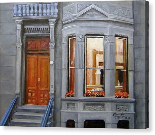Brooklyn Brownstone Window Canvas Print