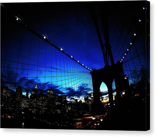 Brooklyn Bridge Canvas Print - Brooklyn Colours by Fulvio Pellegrini