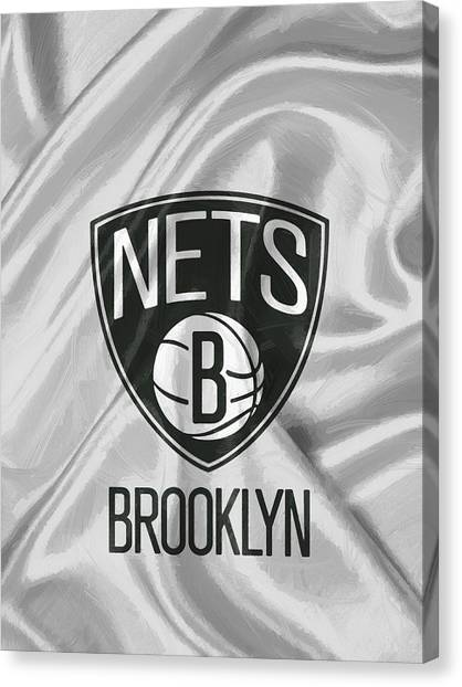 Brooklyn Nets Canvas Print - Brooklyn Nets by Afterdarkness