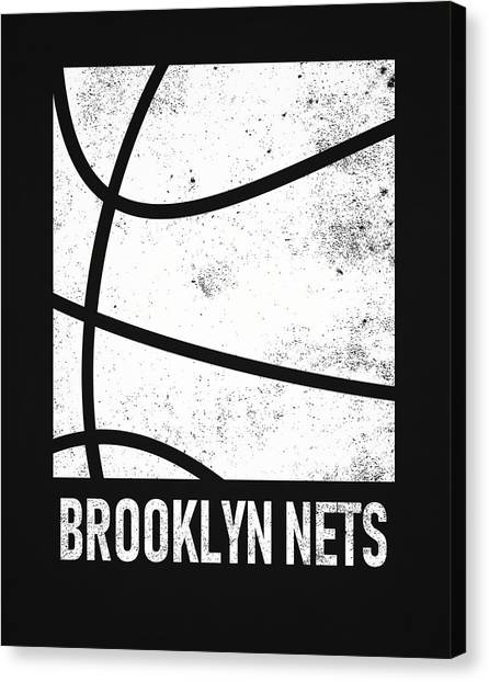 Brooklyn Nets Canvas Print - Brooklyn Nets City Poster Art 2 by Joe Hamilton