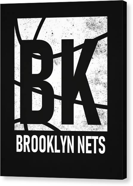 Brooklyn Nets Canvas Print - Brooklyn Nets City Poster Art by Joe Hamilton