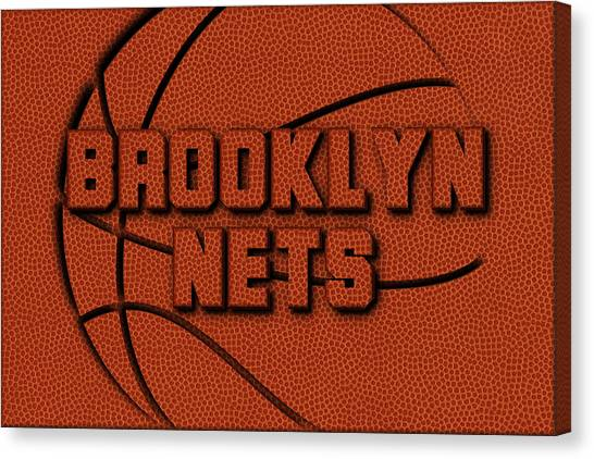 Brooklyn Nets Canvas Print - Brooklyn Nets Leather Art by Joe Hamilton