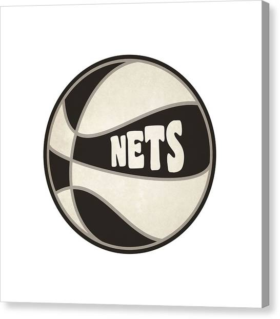 Brooklyn Nets Canvas Print - Brooklyn Nets Retro Shirt by Joe Hamilton