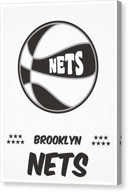 Brooklyn Nets Canvas Print - Brooklyn Nets Vintage Basketball Art by Joe Hamilton