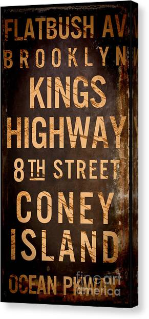 Street Signs Canvas Print - Brooklyn Street Sign by Mindy Sommers