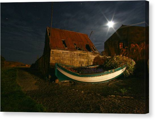 Brora Boat House Canvas Print