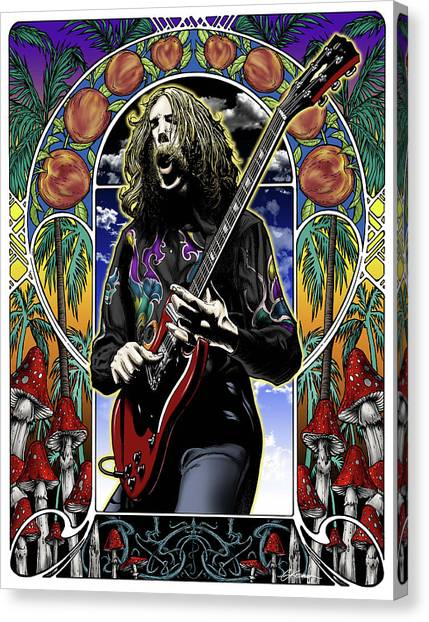 Eric Clapton Canvas Print - Brother Duane by Gary Kroman