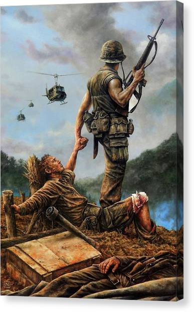 Vietnam War Canvas Print - Brothers In Arms by Dan Nance