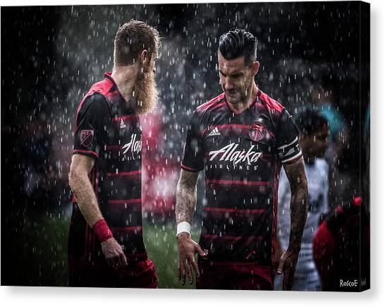 Portland Timbers Canvas Print - Brothers In Reign  by Roscoe Myrick