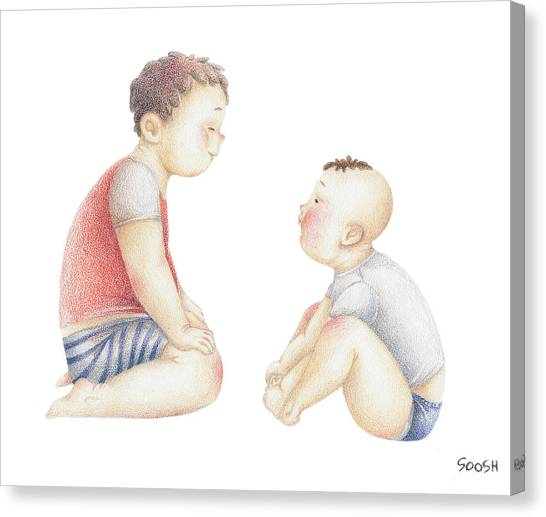 Big Brother Canvas Print - Brothers by Soosh
