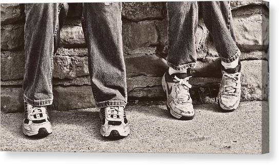 Feet Canvas Print - Brothers by Tom Mc Nemar