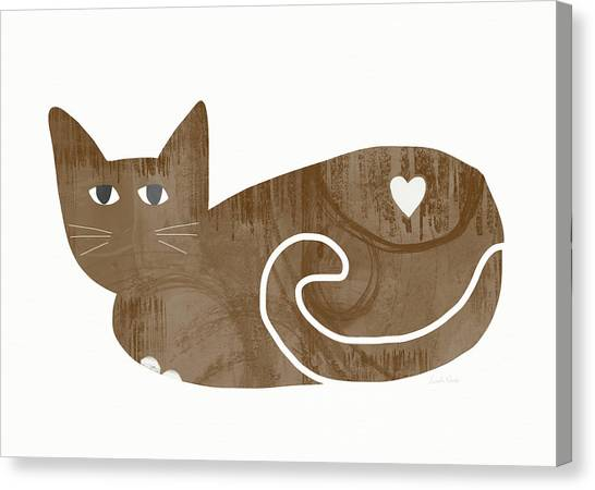 Tabby Canvas Print - Brown Cat- Art By Linda Woods by Linda Woods