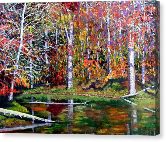 Brown County In Fall Canvas Print by Stan Hamilton