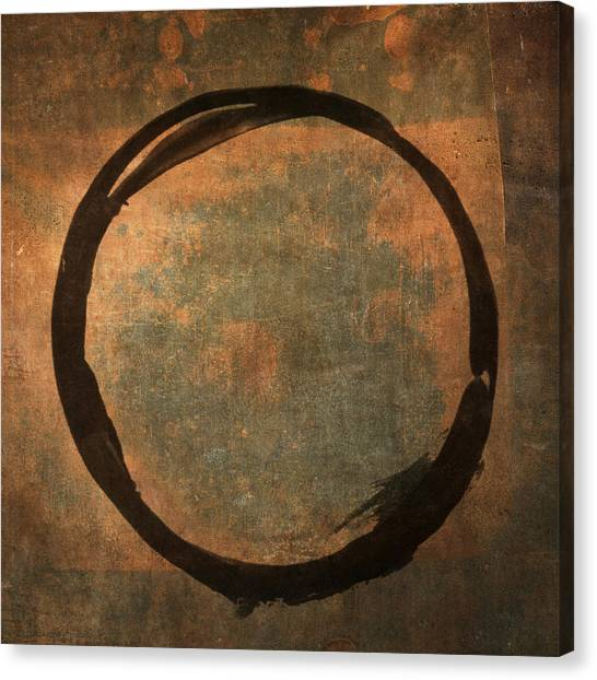 Brown Enso Canvas Print