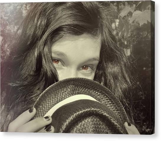 Brown Eyed Girl Canvas Print