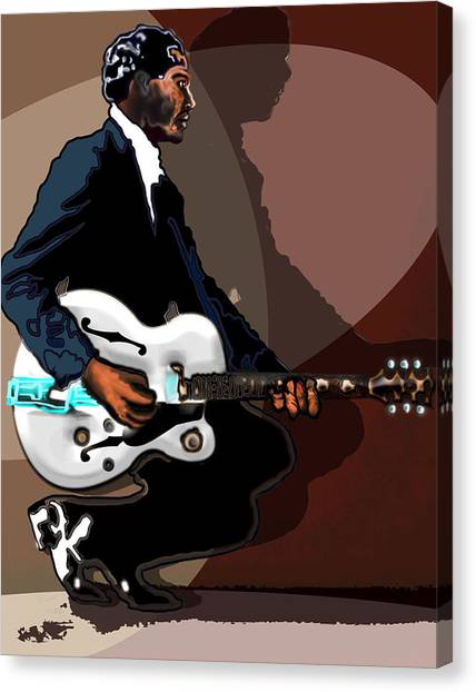Brown Eyed Handsome Man-chuck Berry Canvas Print