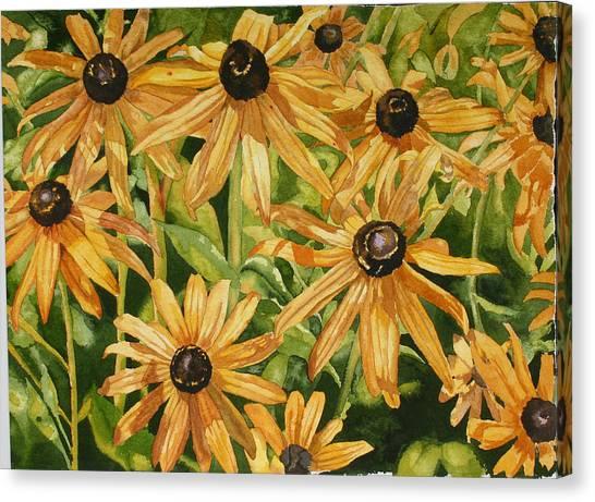 Brown Eyes Canvas Print by Helen Shideler