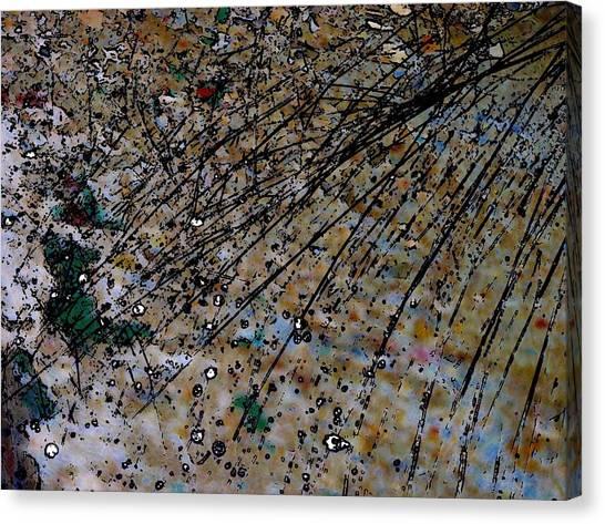 Brown Splatter Canvas Print