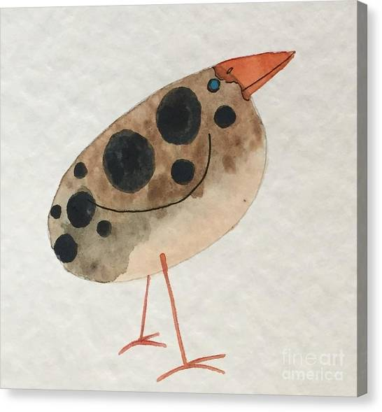 Brown Spotted Bird Canvas Print