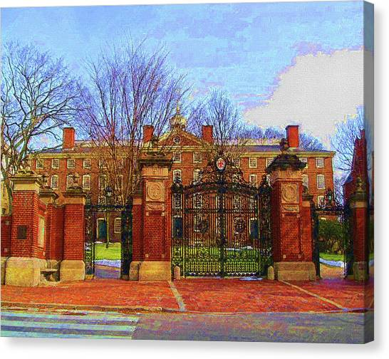 Brown University Canvas Print - Brown University by DJ Fessenden