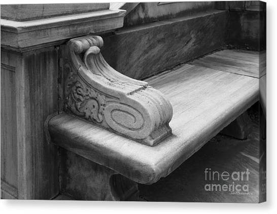 Brown University Canvas Print - Brown University John Hay Library Bench by University Icons