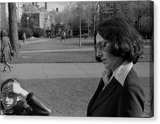 Brown University Student And His Mother, 1975 Canvas Print