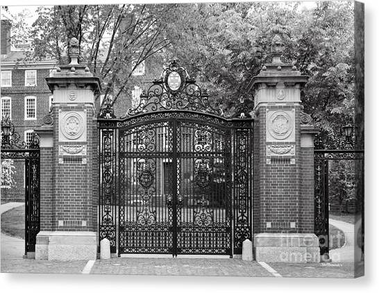Brown University Canvas Print - Brown University Van Wickle Gates by University Icons