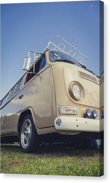 Canvas Print - Brown Vw T2 Camper Van by Richard Nixon