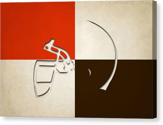 Cleveland Browns Canvas Print - Browns Helmet Art by Joe Hamilton
