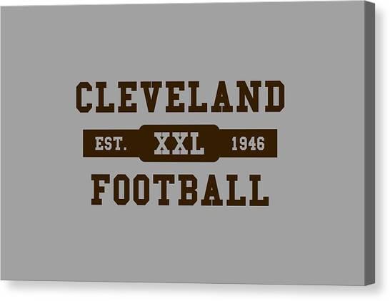 Cleveland Browns Canvas Print - Browns Retro Shirt by Joe Hamilton