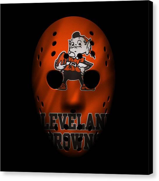Cleveland Browns Canvas Print - Browns War Mask by Joe Hamilton