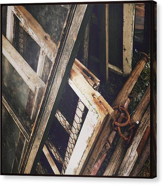Farmhouse Canvas Print - Brownville Flea Market by Chelsey Erpelding
